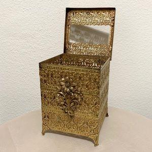 Vintage Victorian tissue box holder